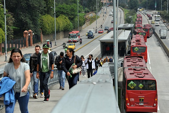 Bogotá's TransMilenio served as a model for Chicago in its efforts to build a bus rapid transit system. - GUILLERMO LEGARIA