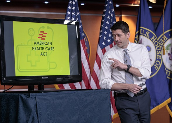 House speaker Paul Ryan makes his case in Washington Thursday for the GOP's plan to repeal and replace the Affordable Care Act. - AP PHOTO/J. SCOTT APPLEWHITE