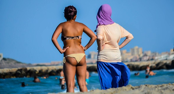 """""""Islamic modesty has become fetishized for some—quite literally. There's hijabi porn and hijabi Lolitas. So the people WKW saw could be into some form of hijab kink."""" - ABDEL CHARAF"""
