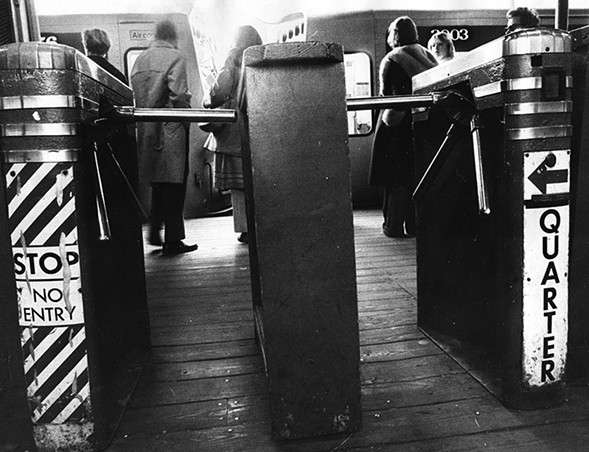 CTA turnstiles photographed in 1972 - SUN-TIMES ARCHIVE