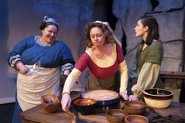 Leslie Hull, Ann Marie Lewis, and Lydia Hiller in Idle Muse Theatre's The Scullery Maid - STEVEN TOWNSHEND