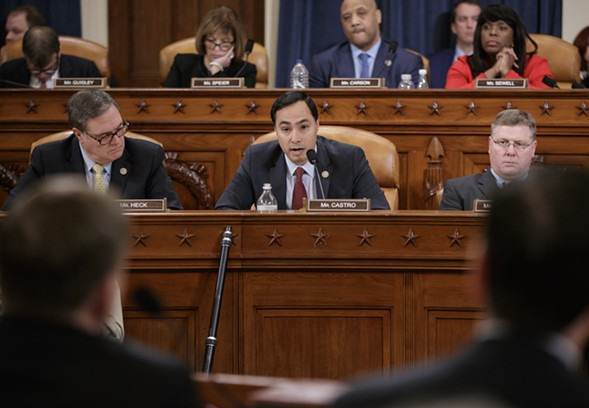 Members of the House Intelligence Committee questioned FBI director James Comey Monday during a hearing on allegations of Russian interference in November's presidential election. - AP PHOTO/J. SCOTT APPLEWHITE