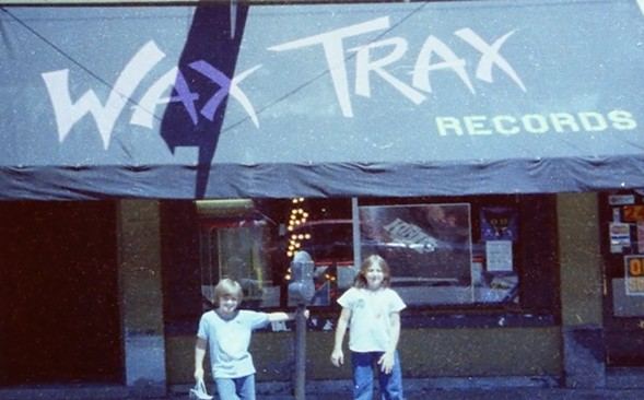 A still from the trailer for Industrial Accident: The Story of Wax Trax! Records
