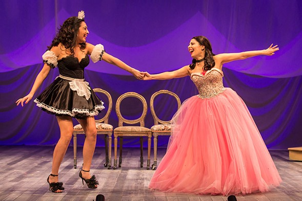 Pilar Esperanza Castillo and Victoria Maria del Rio in Goodman Theatre's Destiny of Desire - LIZ LAUREN