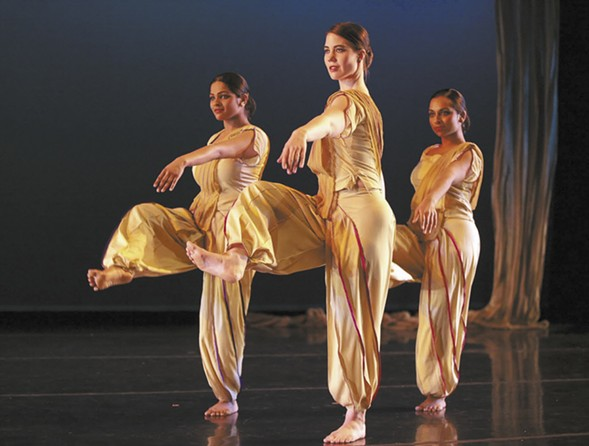 Natya Dance Theater performs at Navy Pier on Mon 4/3 to kick off Chicago Dance Month. - AMITAVA SARKAR