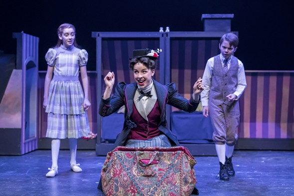 Pearle Bramlett, Nicole Armold, and Casey Lyons in the Mercury Theater's Mary Poppins - BRETT BEINER
