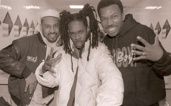 The Dizz and Mike Love with Busta Rhymes - COURTESY OF THE DIZZ