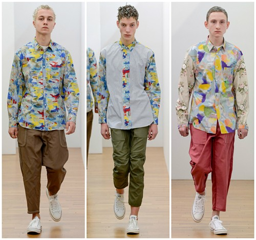 """Fall 2017 Comme de Garçons """"Shirt"""" collection, featuring prints made with images by painter and School of the Art Institute professor Candida Alvarez - PHOTOS COURTESY OF VOGUE.COM"""