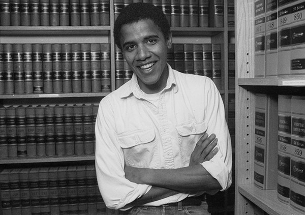 Barack Obama as a student at Harvard University Law School in 1990 - JOE WRINN / AP PHOTO / HARVARD UNIVERSITY