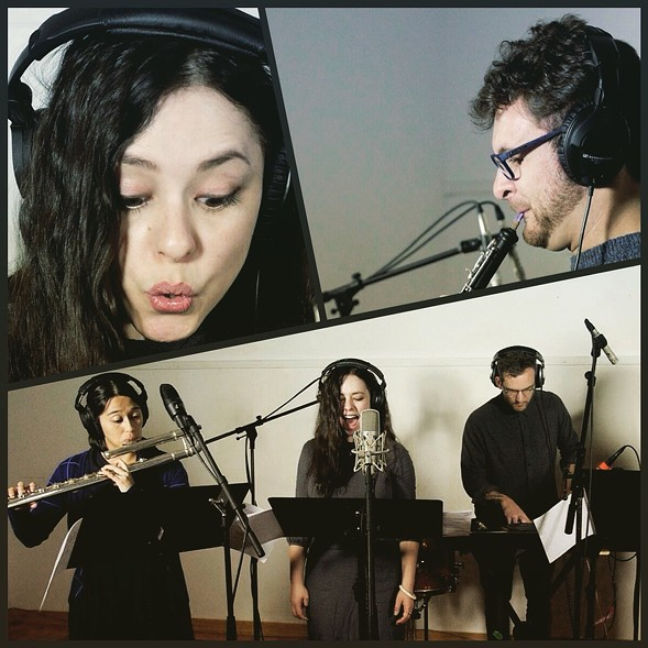 Members of Fonema Consort during the recording sessions for the new Fifth Tableau - ARLEN PARSA
