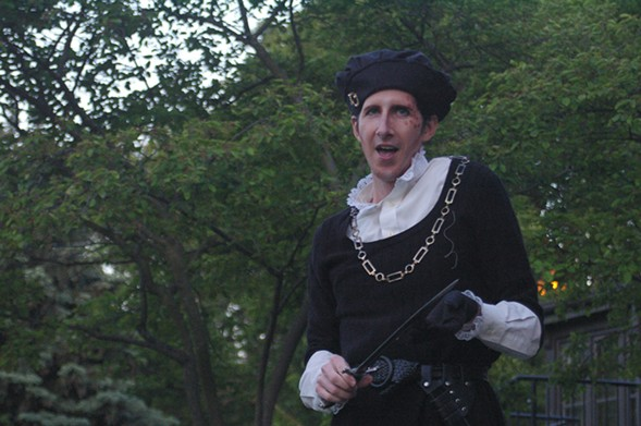 Richard III, at Indian Boundary Park - COURTESY FURY THEATRE