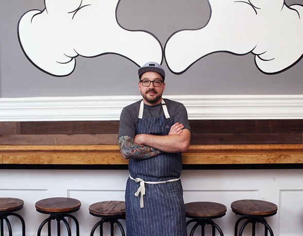 Adam Wendt, chef of the soon-to-open Wicker Park restaurant the Delta - JULIA THIEL