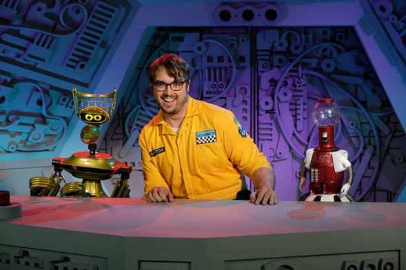 Take advantage of your chance to yell at a movie screen with Jonah Ray and the rest of the Mystery Science Theater 3000 team at the Vic on Sunday 7/16. - COURTESY OF PITCH PERFECT PR