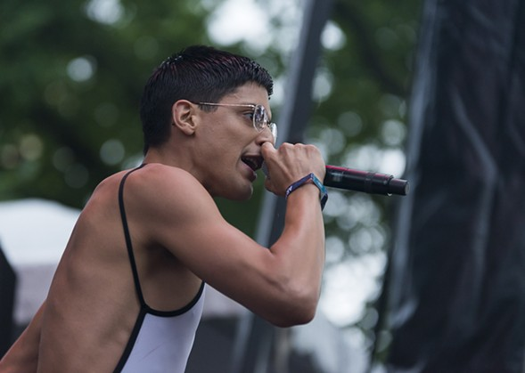 Arca's newest album is his first to feature prominent vocals, and his Pitchfork set did too. - PORTER MCLEOD