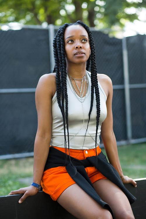 Jamila Woods, who performed at the festival. - EMMA ARNOLD / TRÉS AWESOME