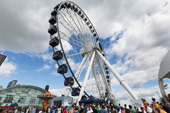 Crowds gather at Navy Pier in 2016. - LOU FOGLIA/SUN-TIMES