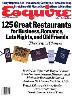 """Fifteen"" appears in the August 1982 issue of Esquire"