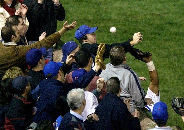 The infamous Bartman ball - AP PHOTO/MORRY GASH, FILE