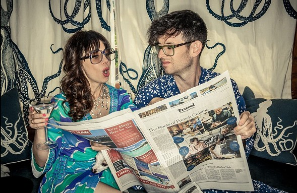 Married comedians Natasha Leggero and Moshe Kasher swing by Chicago as part of their Endless Honeymoon Tour Sunday 8. - COURTESY OF PITCH PERFECT PR