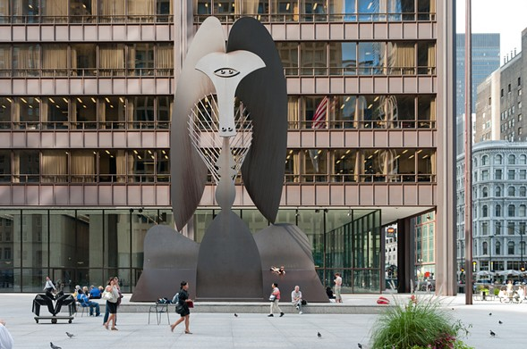 Everyone's Picasso honors the 50th anniversary of the Chicago Picasso—the giant metal aardvark herself—on Tue 8/8. - DAN DELUCA