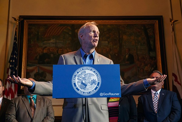 Illinois governor Bruce Rauner vetoed Senate Bill 1, the education aid distribution bill, on August 1. SB1 has to pass by August 10, when the first school aid payments are supposed to be distributed, or it's dead. - JUSTIN FOWLER