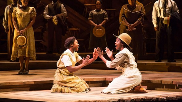 Broadway in Chicago transports musical numbers from its stages to the Pritzker Pavilion, including some from The Color Purple, on Monday 8/14. - MATTHEW MURPHY