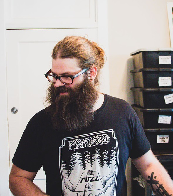Scorched Tundra organizer Alexi Front. His T-shirt is from Swedish doom trio Monolord, who played the festival's Chicago debut in 2016. - COURTESY THE SUBJECT