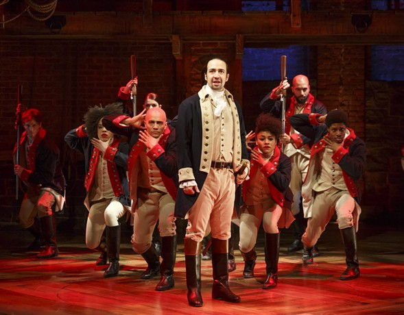 Lin-Manuel Miranda performs in Hamilton in New York - JOAN MARCUS/THE PUBLIC THEATER VIA AP