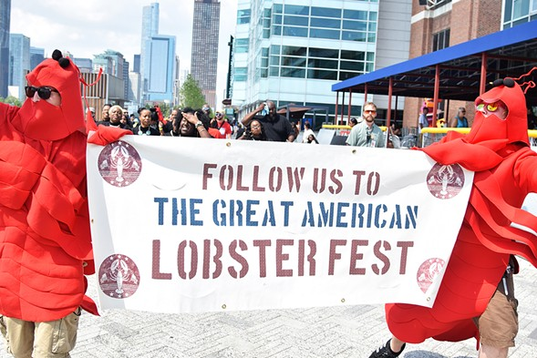 Only the fanciest of (non-kosher) dining options are available at the Great American Lobster Fest beginning Friday, 9/1. - COURTESY GREAT AMERICAN LOBSTER FEST