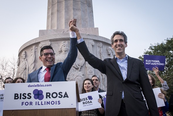 Carlos Ramirez-Rosa and Daniel Biss - COURTESY BISS FOR GOVERNOR
