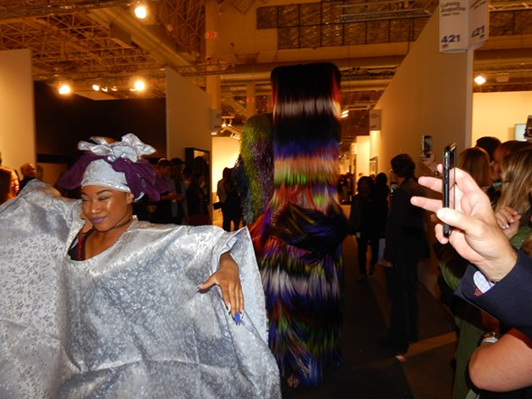 Like the Pied Piper, Nick Cave's dancers and fanciful creatures emptied the Expo galleries. - DEANNA ISAACS