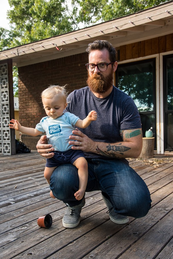 Astral Spirits founder Nathan Cross and son Theo - NICK LAROCHE