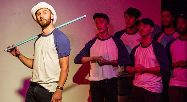 Striking Out: A Gay Baseball Musical, at the Annoyance - NIKKI LOEHR