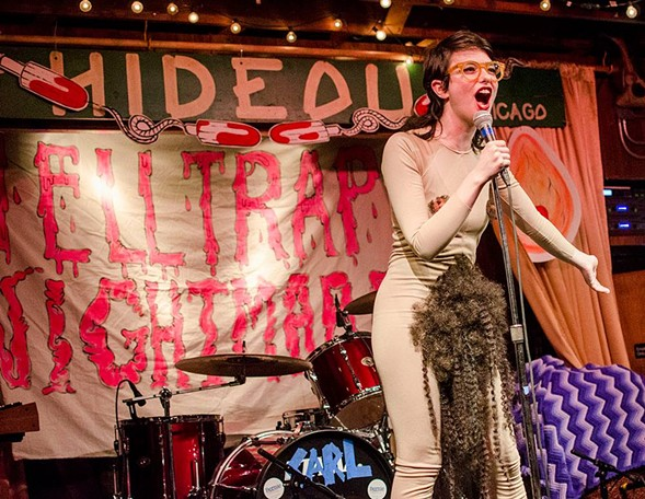 """Sarah Sherman, aka """"Sarah Squirm,"""" pulls out all the stops (and pubes) at the raunchy Helltrap Nightmare Fri 10/27. - COURTESY OF ARTIST"""