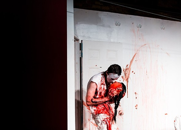 Enjoy the gratuitousness of Splatter Theater, a spoof of horror flicks, at the Annoyance Theatre Sat 10/28. - GILLIAN FRY