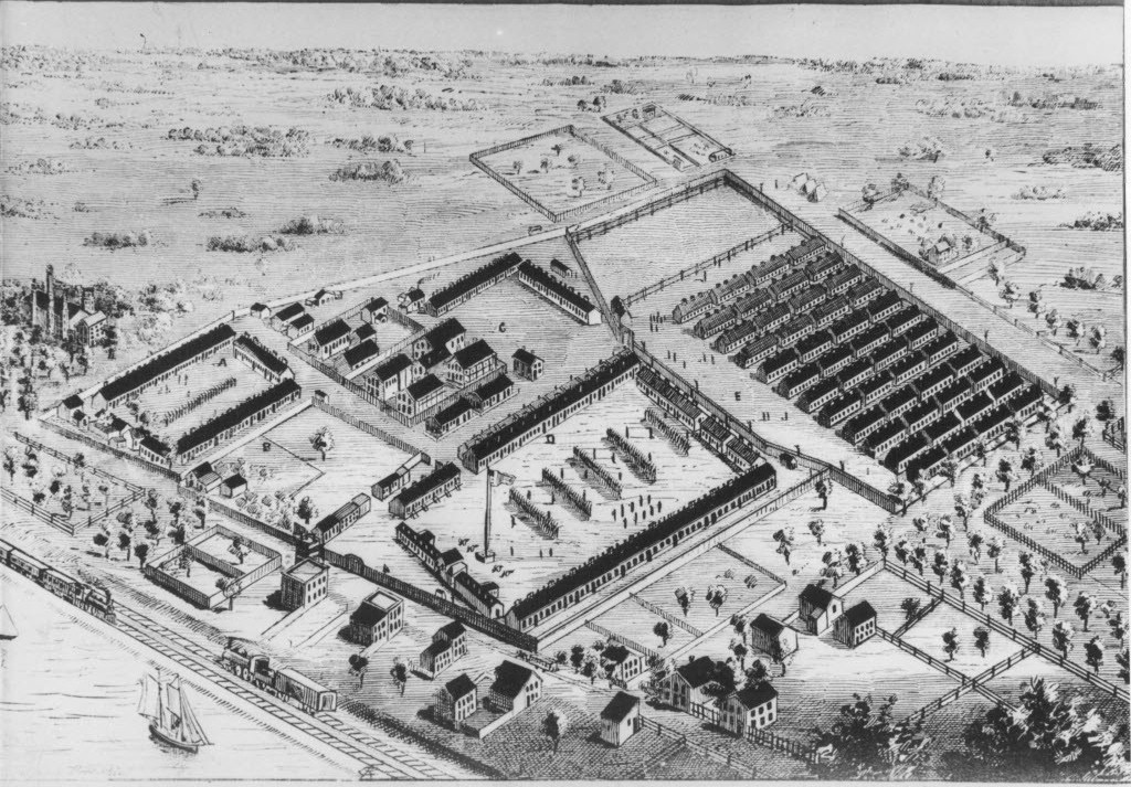 A rendering of Camp Douglas during the Civil War - SUN-TIMES PRINT COLLECTION