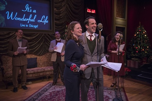 James Joseph, Ian Paul Custer, Gwendolyn Whiteside, Zach Kenney, and Dara Cameron in It's a Wonderful Life: Live in Chicago! - MICHAEL BROSILOW