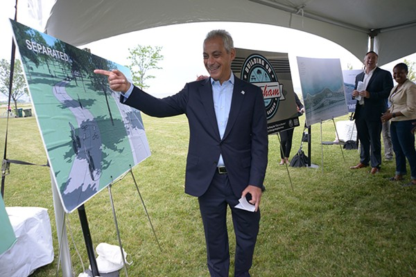 The Chicago Park District this year made significant headway on building separate paths for pedestrians and cyclists on the Lakefront Trail. - BRIAN JACKSON/ FOR THE SUN-TIMES