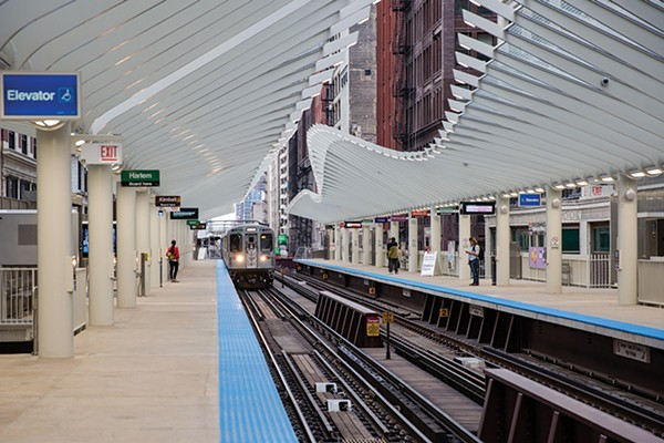 The brand-new CTA station at Washington and Wabash, inspired by architect Santiago Calatrava, opened in August. - SANTIAGO COVARRUBIAS/SUN-TIMES