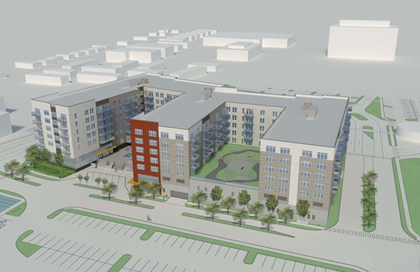 Rendering of the proposed apartment development in Napolitano's ward - COURTESY OF GLENSTAR