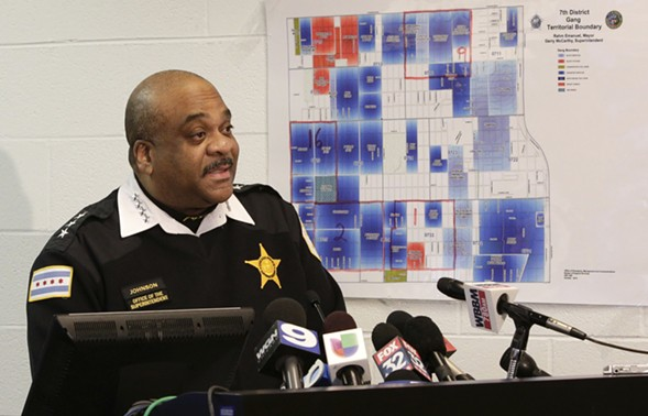 Chicago Police Department superintendent Eddie Johnson speaks at a news conference. - AP PHOTO/TERESA CRAWFORD