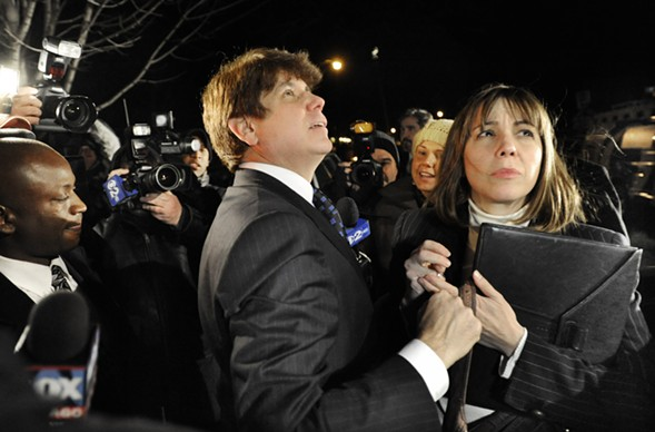 Former governor Rod Blagojevich and his wife, Patti, in 2011 - AP PHOTO/PAUL BEATY