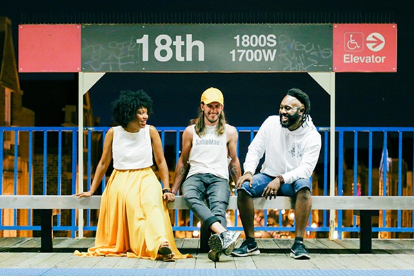 McKenzie Chinn, Jeffrey Michael Austin, and Mykele Deville, aka the Growing Concerns Poetry Collective - OLIVIA OBINEME