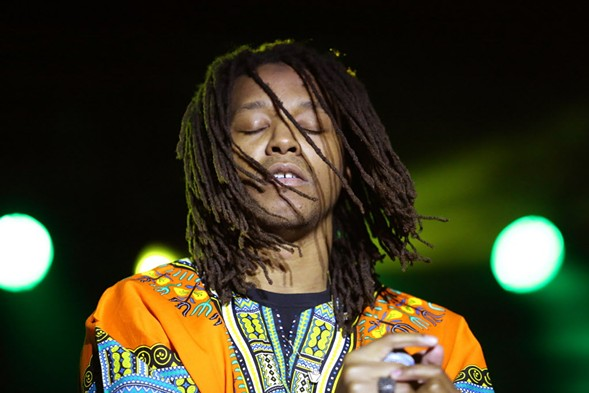 Lupe Fiasco performs at the first Aahh! Fest in 2014. - ALEX WROBLEWSKI / SUN-TIMES