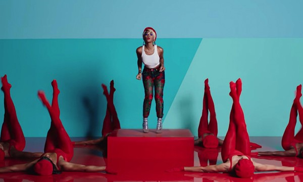 """A still from Janelle Monae's video for """"Make Me Feel"""""""