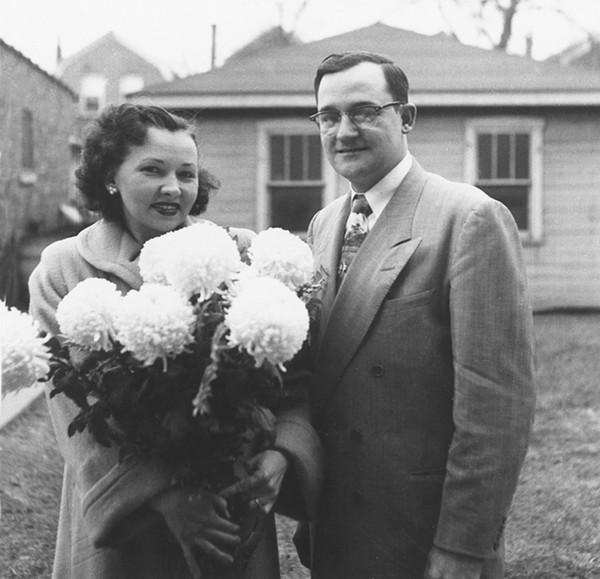Gartz's parents, Lillian and Fred, on their 10th wedding anniversary in 1952 - COURTESY OF AUTHOR