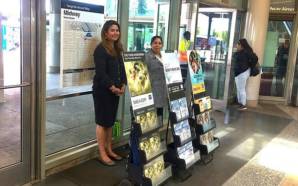At the Midway stop. - CHICAGO SPECIAL METROPOLITAN PUBLIC WITNESSING