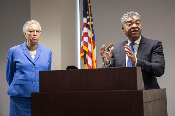 Cook County Board president Toni Preckwinkle and Chief Judge Timothy Evans - RICH HEIN/SUN-TIMES