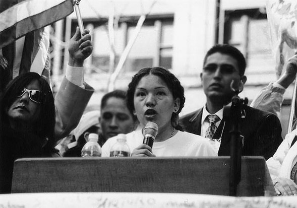 Elvira Arellano at a rally in 2006
