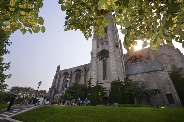 Rockefeller Chapel. The carillon is at the top of the tower. - EDEN SABALA